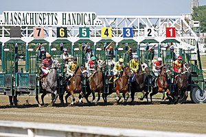 Massachusetts Handicap - Image: Suffolk Downs horse racing