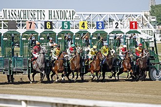 Horse racing - Suffolk Downs starting gate, East Boston, Massachusetts