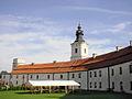 Sulejów,Brama Krakowska,XII, XIV, po lewej baszta attykowa.JPG