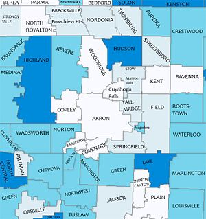 Summit County, Ohio - Public School Districts in Summit County and Surrounding Areas