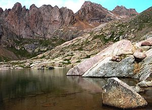 Sunlight Peak - Sunlight Peak from Twin Lakes