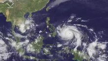 ملف:Super Typhoon Haiyan Impacts the Philippines.webm