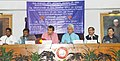 Suresh Prabhakar Prabhu addressing at the signing ceremony of a Memorandum of Understanding (MoU) between Ministry of Railways and Government of Odisha to form an SPV for Implementing Railway Projects in Odisha.jpg
