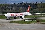 """Swiss International Air Lines Boeing 777-3DE-ER HB-JNA """"Faces of Swiss"""" livery (26417955670).jpg"""