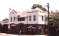 Glebe Fire Station, Sydney, Australia, in Arts and Crafts style