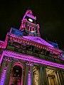 Sydney Town Hall illuminated in support of Vote Yes.jpg