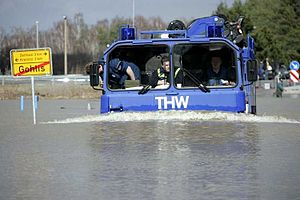 Technisches Hilfswerk - The THW during a flood disaster