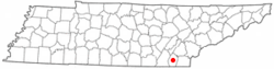 Location of South Cleveland, Tennessee