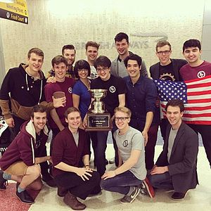 The Techtonics - The Techtonics after their ICCA win in 2016.