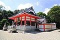 Takagamo Hachiman-sha shrine haiden 02, Misaki-cho Toyoake 2018.jpg