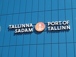 Tallinna Sadam Logo Port of Tallinn 10 August 2015.JPG