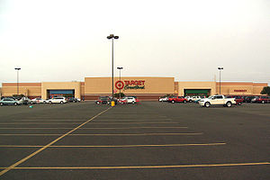 Target Corporation - The exterior of a former Target Greatland store in Laredo, Texas