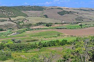 Tarquinia - Site of the ancient city on the plateau of La Civita opposite the modern town