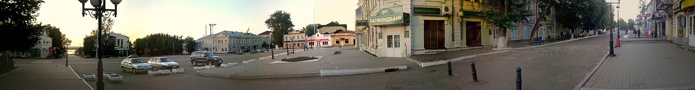 Панорама центральной площади г. Чистополь