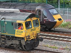 Taunton - Freightliner 66507 and CrossCountry 43207.JPG