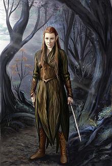 Tauriel, une elfe imaginée pour l'adaptation cinématographique du Hobbit de Tolkien.