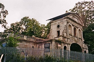 Theobalds House - Temple Bar in Theobalds Park before 2001