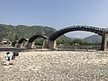 Tenshu of Iwakuni Castle and Kintaikyo Bridge 4.jpg