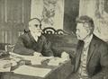 Teofilo Braga, presidente do Governo Provisorio, conferenciando com o Ministro dos Extrangeiros Bernardino Machado - Ilustração Portugueza (02Fev1924).png