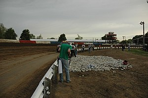 Terre Haute Action Track - Image: Terre Haute Action Track Turn