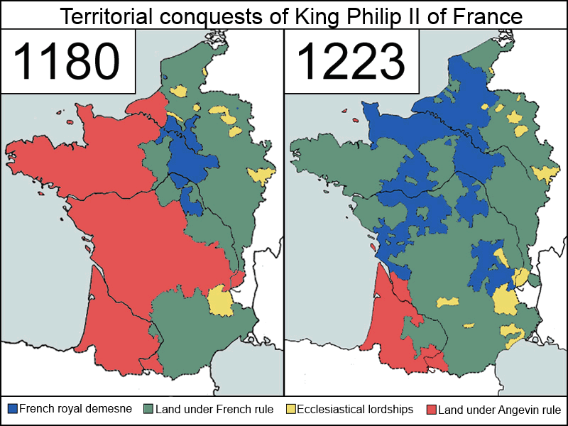 Territorial Conquests of Philip II of France