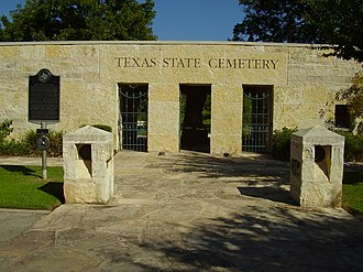 Texas State Cemetery - Image: Texas State Cemetery Entrance