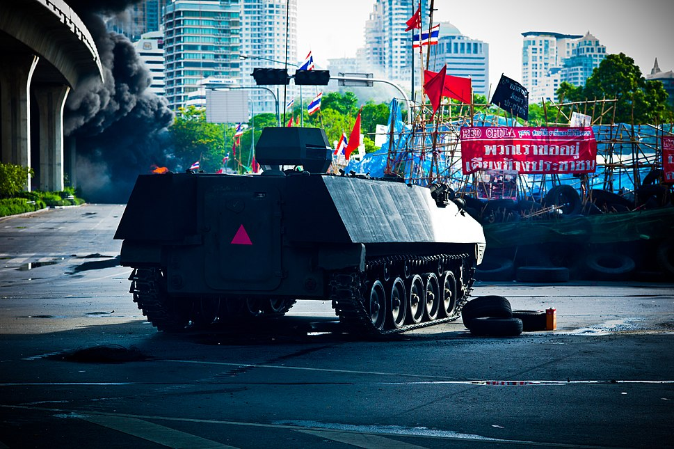 Thai Type 85 APCs during 2010 Thai political protests.jpg
