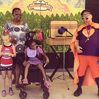 Morgan's Wonderland - Interactive performance - 'Adventures of Captain Inclusion'