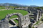 The Amphitheatre, erected in the latter half of the 2nd century AD, the fights in the arena could be watched by some 17,000 spectators, Salona (12248983623).jpg
