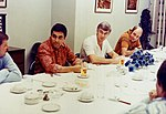The Apollo 17 crew at the traditional pre-launch breakfast.jpg