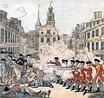 The Boston Massacre, depicted in an engraving by Paul Revere