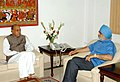 The Chief Minister of Himachal Pradesh, Shri Prem Kumar Dhumal meeting the Deputy Chairman, Planning Commission, Shri Montek Singh Ahluwalia to finalize Annual Plan 2010-11 of the State, in New Delhi on March 08, 2010.jpg