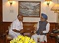 The Chief Minister of Karnataka, Shri Yeddyurappa calling on the Prime Minister, Dr. Manmohan Singh, in New Delhi on June 02, 2008.jpg