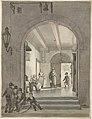 The Entrance of the Evangelisch-Lutherse Diaconie- en Bestedelingenhuis in Amsterdam by Johannes Jelgerhuis Rijksmuseum Amsterdam RP-T-1953-234.jpg