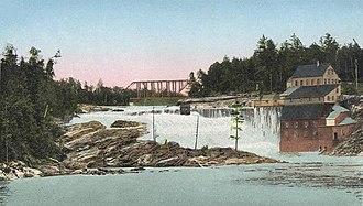 Rumford, Maine - Image: The Falls, Rumford Falls, ME