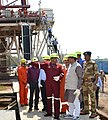 The Minister of State for Petroleum and Natural Gas (Independent Charge), Shri Dharmendra Pradhan visiting the Geleky drill site, in ONGC Assam Asset, on April 16, 2015 (1).jpg