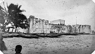 Anomabu Town in Central Region, Ghana