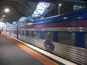 Great Southern Rail (Australia) - The Overland at Southern Cross station in February 2009