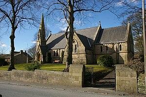 Higham, Lancashire - Image: The Parish Church of St John the Evangelist, Higham geograph.org.uk 130606