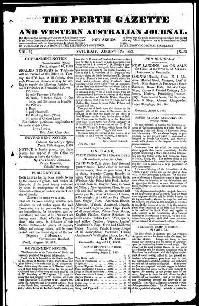 File:The Perth Gazette and Western Australian Journal 1(33).djvu
