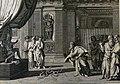 The Phillip Medhurst Picture Torah 301. Rod of Aaron turned into a serpent. Exodus cap 7 vv 7-10-12. Le Clerc.jpg