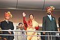 The President, Smt. Pratibha Devisingh Patil at the opening ceremony of 3rd Commonwealth Youth Games-2008, in Pune on October 12, 2008.jpg