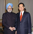 The Prime Minister, Dr. Manmohan Singh meeting the Prime Minister of Vietnam, Mr. Nguyen Tan Dung, on the sidelines of 4th East Asia Summit (EAS), in Hua Hin, Thailand on October 25, 2009.jpg