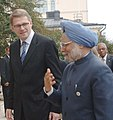 The Prime Minister, Dr. Manmohan Singh with the Prime Minister of Finland, Mr. Matti Vanhanen, at a meeting in Helsinki, Finland on October 12, 2006.jpg