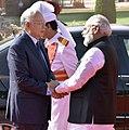 The Prime Minister, Shri Narendra Modi welcoming the Prime Minister of Malaysia, Dato' Sri Mohd Najib Bin Tun Abdul Razak at the ceremonial reception, at Rashtrapati Bhavan, in New Delhi on April 01, 2017.jpg