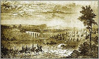 Gaius Claudius Nero - Gaius Claudius Nero takes the head of Hasdrubal to the camp of Hannibal after the Battle of Metaurus, 207 BC.