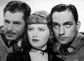Fredric March - Warner Baxter, June Lang and March in The Road to Glory (1936)