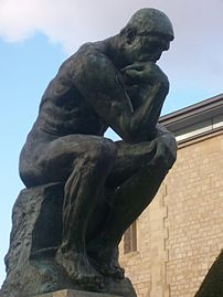 Close shot of Rodin's The Thinker at the Musée Rodin.