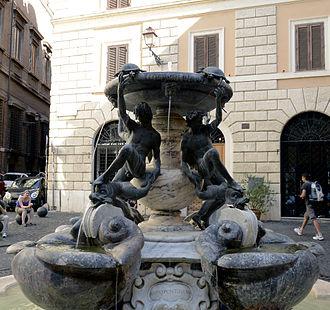 Fontana delle Tartarughe - Fontana delle Tartarughe, in Piazza Mattei, Rome