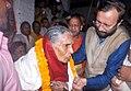 The Union Minister for Human Resource Development, Shri Prakash Javadekar honouring the family member of the freedom fighters, at the 'Azadi 70 - Yaad Karo Kurbani' function, at Gorakhpur, Uttar Pradesh on August 16, 2016.jpg